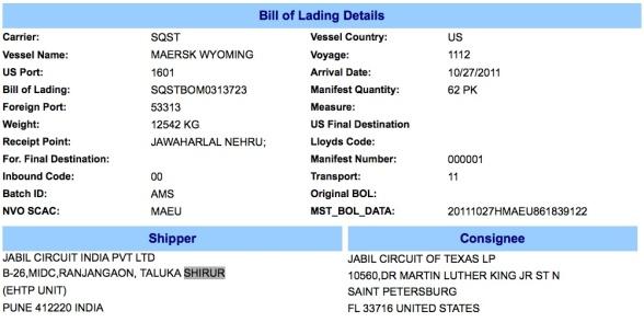 Word 2013 Bill of Lading